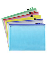 Document Folder File Zipper Bags Plastic Wallets Folder Yellow - $7.29