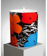 Ligne Blanche Paris Flower Candle by Andy Warhol Blue/Orange/Red - $68.12