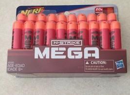 Nerf N-STRIKE Mega 20x Refill Toy Ammo Darts Hasbro New Sealed - $12.16
