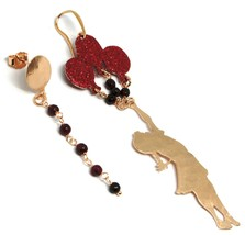 Drop Earrings Silver 925, Alice, Balloons, Agate Red, le Favole image 2
