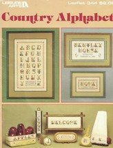 Country Alphabet Leisure Arts 344 for Counted Cross Stitch Leaflet 1985 Vintage - $2.96