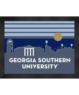 Georgia Southern Eagles 13 x 16 Uscape with Retro Skyline Framed Print  - $39.95
