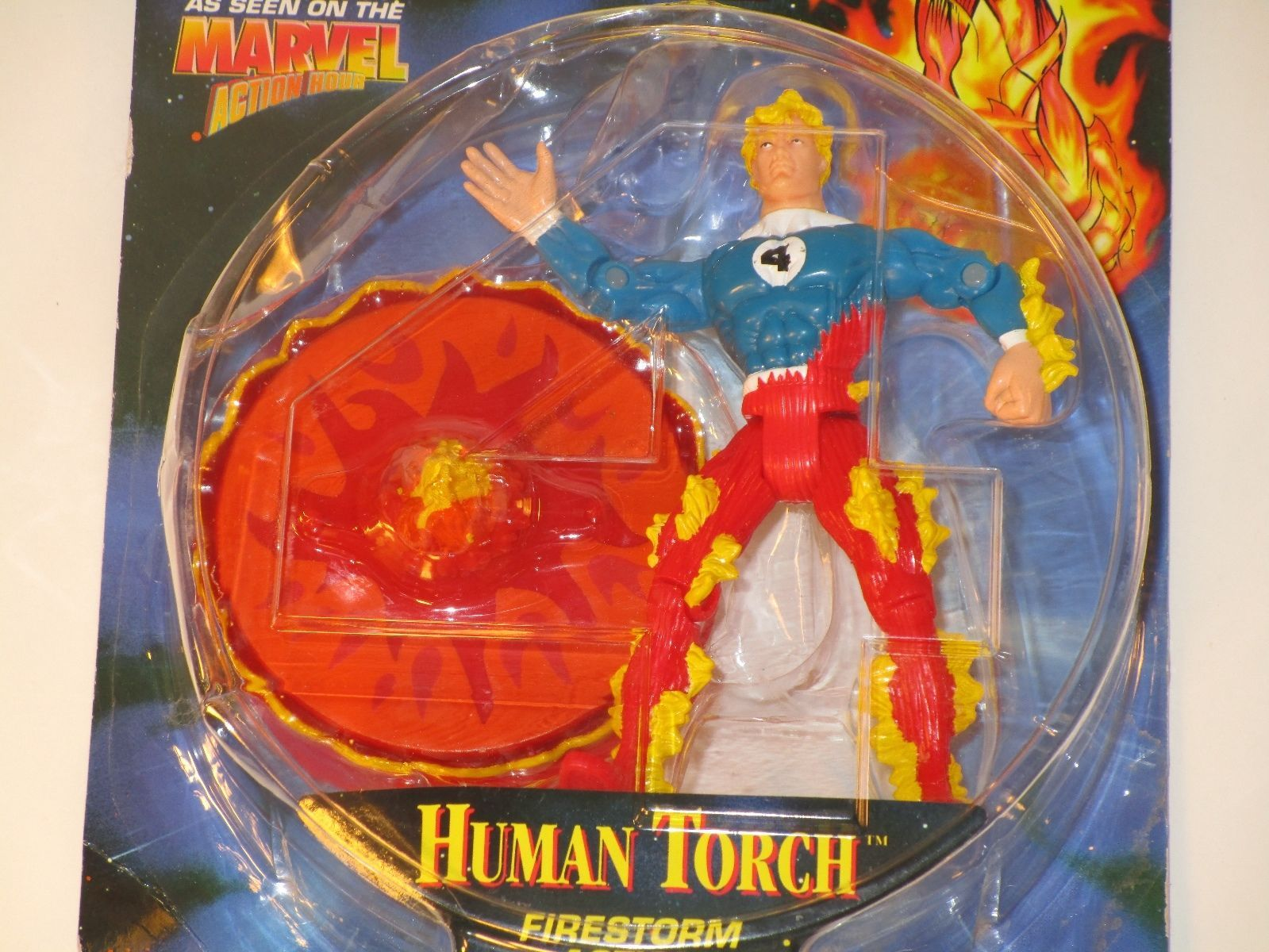 Biz Toys 1996 Fantastic Four Marvel The Human Torch Action Figure NRFB