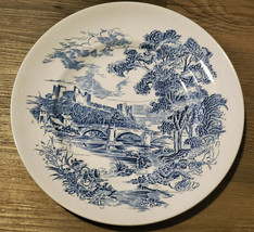 "Enoch Wedgwood Tunstall COUNTRYSIDE Blue 8-10"" Dinner Plate Made in England EC - $61.47"