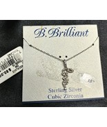 "Sterling Silver B. Brilliant Cubic Zirconia LOVE Pendant 18"" Necklace - $24.09"