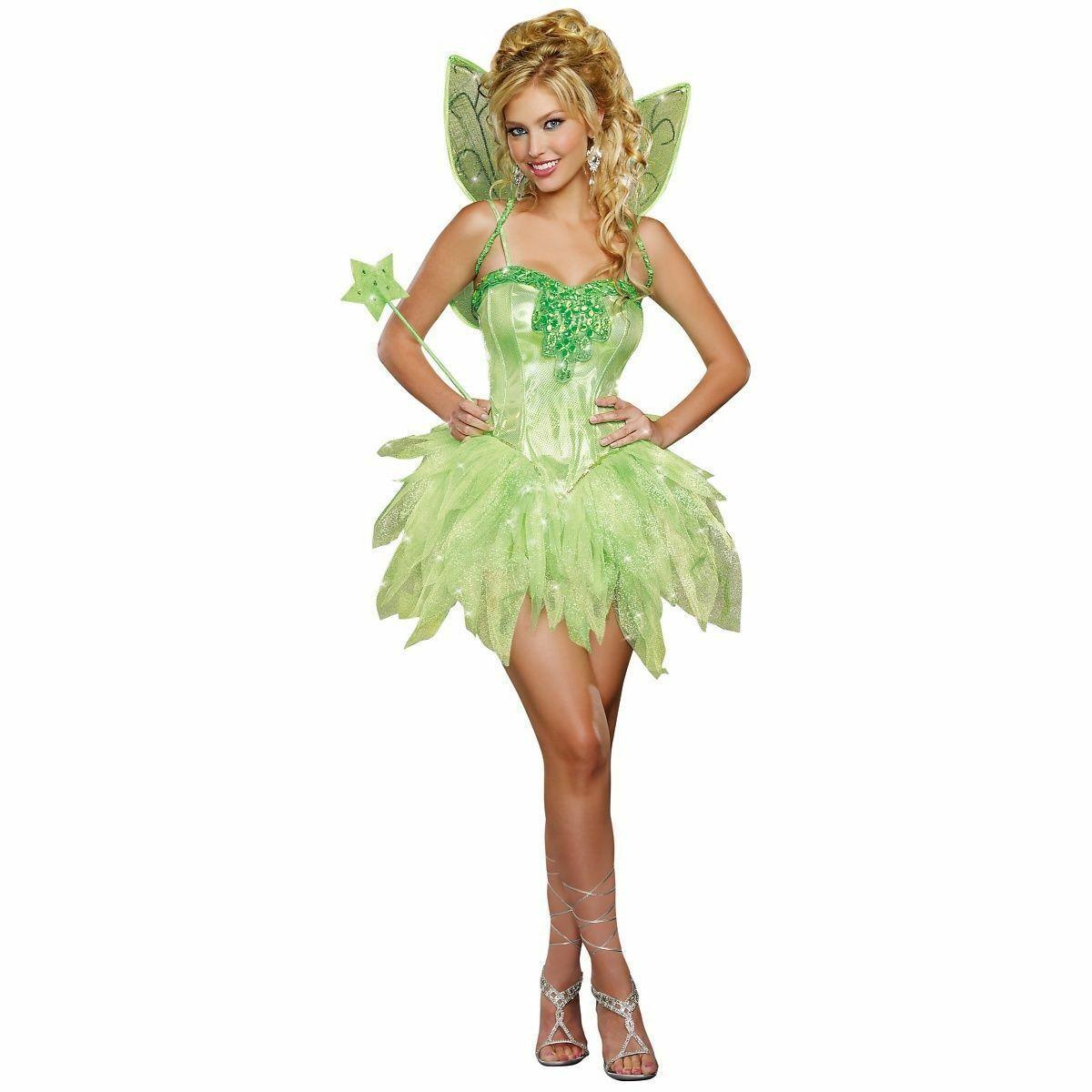 Dreamgirl Fairy-Licious Tinkerbell Fantasie Funkelt Erwachsene Damen Kostüm 9452