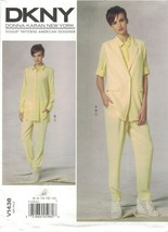 Vogue 1438 DKNY Donna Karan Long Vest, Shirt, Pants Pattern Choose Size ... - $14.99