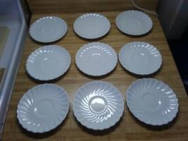 Snowhite Regency Johnson Brothers saucers - $24.14