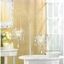 White Hanging Mini-Chandelier Votive Stand - $25.95