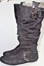 Naughty monkey Knee High Boots Rounded Up Suede... - $41.64