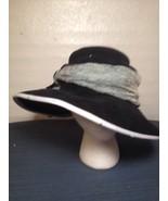 Vintage Mona The Mad Hatter Black Sunday Church Dress Hat Wide Brim (hb7) - $46.74