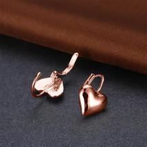 2017 Paris Fashion Double Heart  Stainless Steel Women Jewelry Hoop Ear ... - $9.79