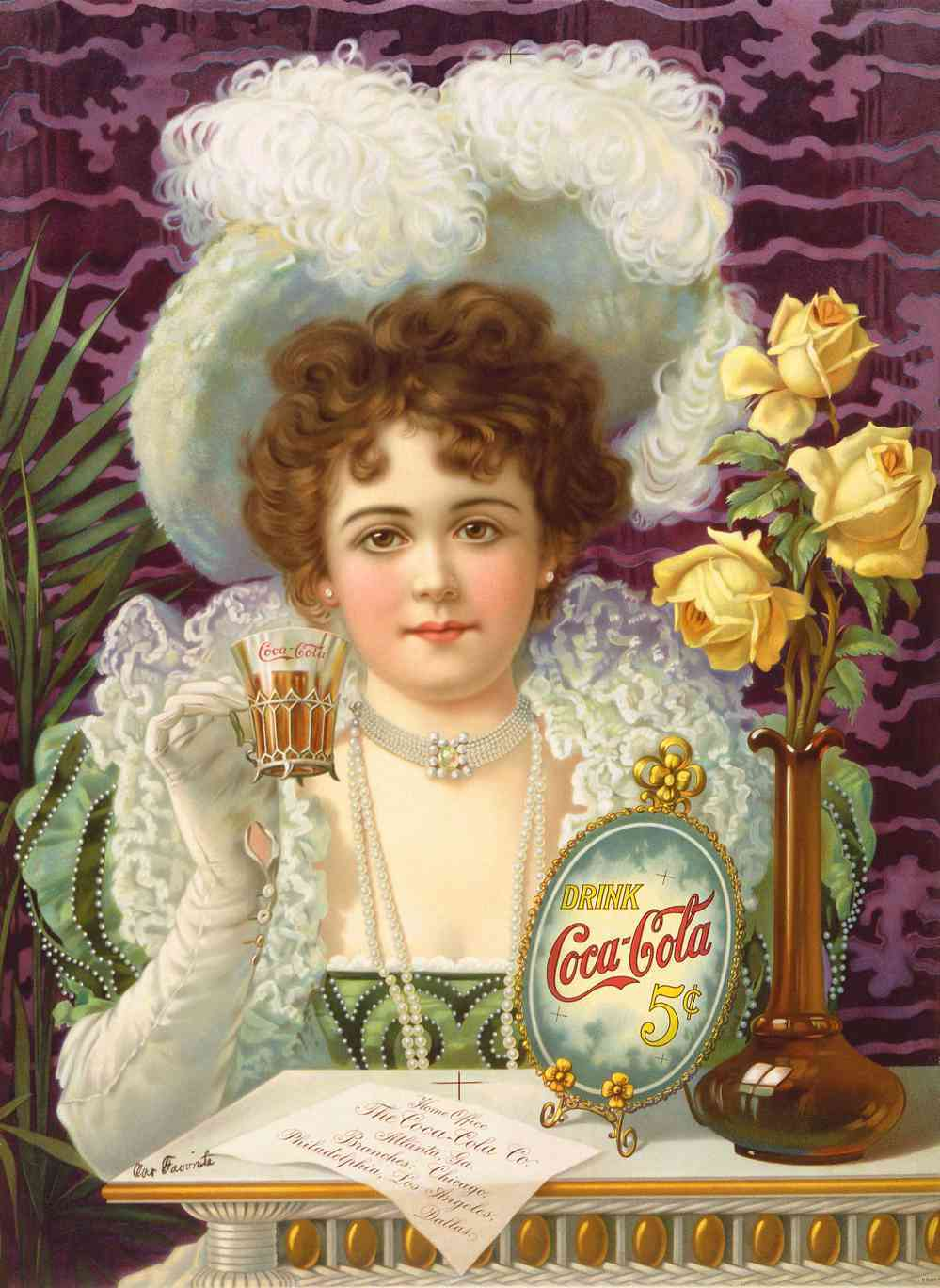 Coca Cola 1900 - 40x50 inch Canvas Wall Art Home Decor