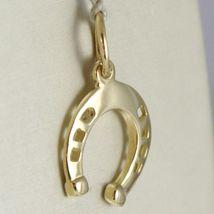 Pendant Gold Yellow or White 750 18k Horseshoe Pendant, 2.1 cm long image 3