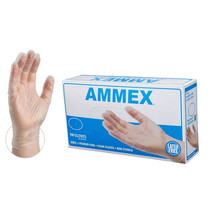 AMMEX Clear Medical Vinyl Exam Latex Free Disposable Gloves (Box of 100) - $5.95