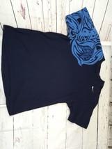 "Rare Vtg Nike Love Blue Raised Graphics T Shirt Size Medium 46"" Chest - $34.48"