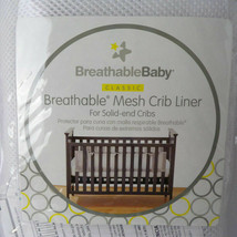 Breathable Baby Classic Solid End Breathable Mesh Crib Liner In White - $24.74