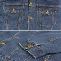NYT Men's Classic Button Up Cotton Sherpa Trucker Denim Jean Jacket image 8