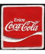 Vintage uniform patch COCA COLA soda pop wave logo #2 unused new old sto... - $7.99