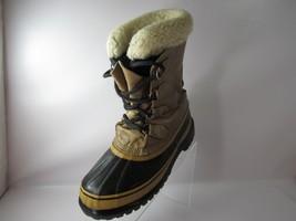 SOREL CARIBOU Size 9.5 Tan Leather Winter Duck Boots Shoes Mens - $65.09