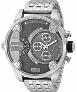 Diesel Men's Oversized  DZ7259 Stainless Steel Band Grey Dial Chronograp... - £127.19 GBP