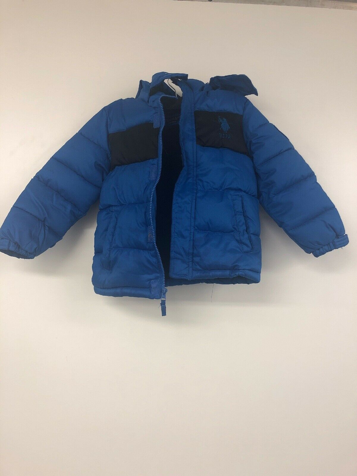 Primary image for US Polo Association Boys Sporty Bubble Jacket , Blue/Black 5/6
