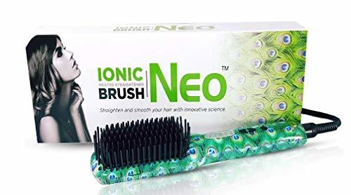 Primary image for The Neo Choice Square IONIC Heated Brush Brush Hot De-tangle Hair Straightener F