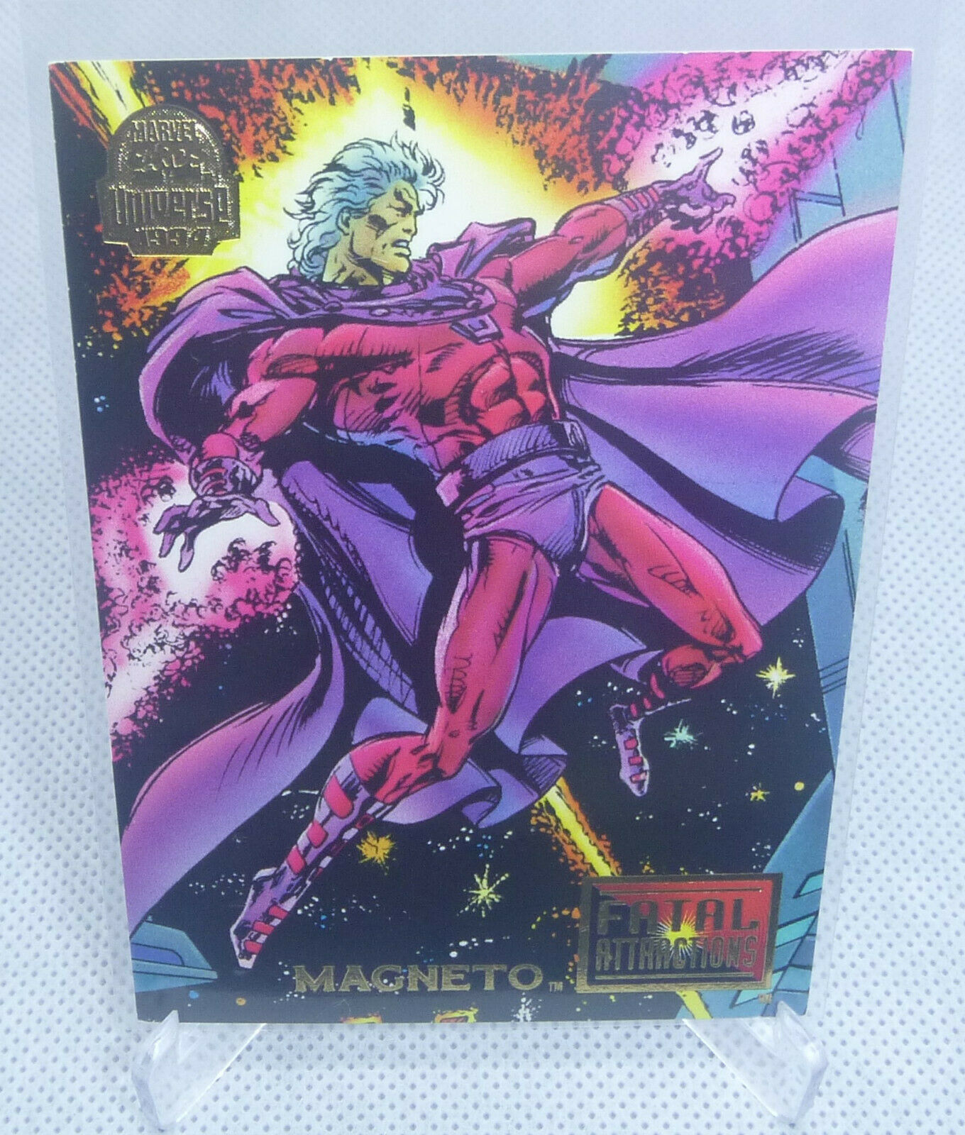 1994 Fleer Marvel Comics Universe MAGNETO Trading Card #14 Fatal Attractions - $2.96