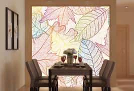 3D Blätter Klarer gedanke Fototapeten Wandbild Fototapete BildTapete Familie DE - $52.82+