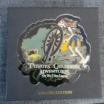 Disney Pin Jumbo Pirates of the Carribean Adventures on 7 Seas Lagoon LE... - $74.24