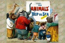 The Animals Trip to the Sea by G.H. Thompson - Art Print - $19.99+