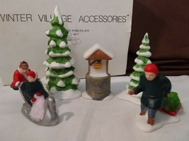 Dept 56 New England Village Accessory 1986 NEW ENGLAND WINTER SET 5 Pc 6... - $18.00