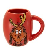 Christmas Grinch Mug Dog Reindeer Antler Oval Ceramic Coffee Cup Red Dr ... - $17.32