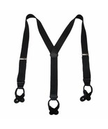 New MTL Men's Elastic Button End Dress Suspenders with Silver Hardware U... - $16.95