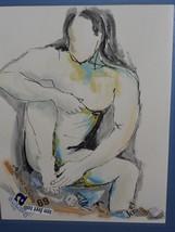 Original Watercolor Signed by L. Toro, New York, 1973 - $99.00