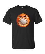 PUMPKIN EAT BASEBALL Halloween 2018  Black Navy T-shirt Awesome Full Size - $20.74+