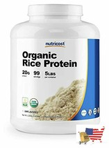 Nutricost Organic Rice Protein Powder 5lbs (Unflavored) - Certified USDA Organic - $77.19