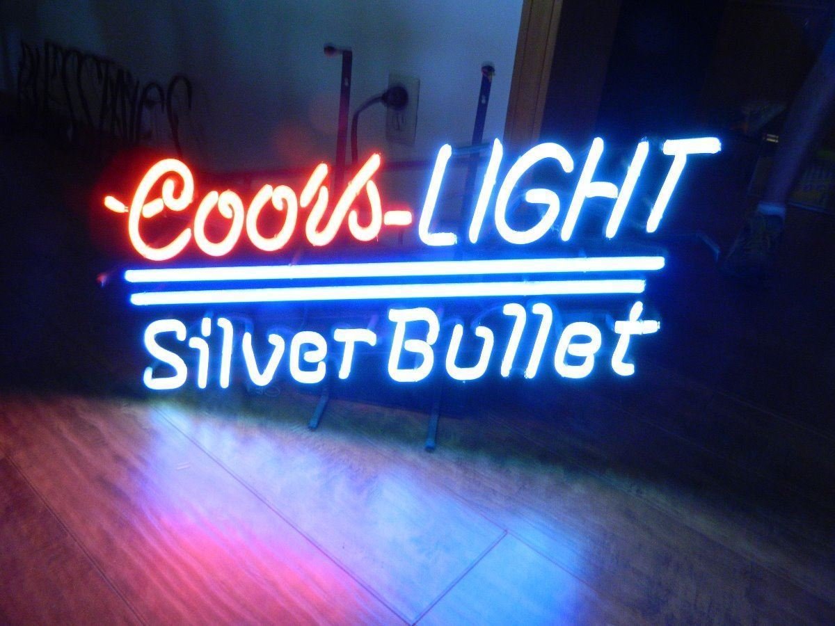 """New Coors Light Silver Bullet Beer Neon Sign 24""""x20"""" Ship From USA"""