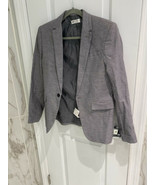 H&M Single Breasted Textured Weave Grey Marl Jacket Boys Size 13-14Y - $11.94