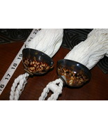 6 Brown Snake Head Cowry South Pacific Seashell Tassels Designer Unique ... - $47.49