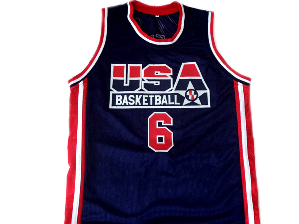 Derrick Coleman #6 Team USA Men Basketball Jersey Navy Blue Any Size