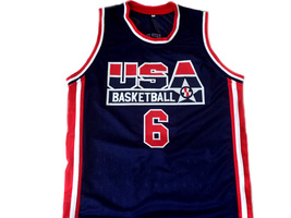 Derrick Coleman #6 Team USA Men Basketball Jersey Navy Blue Any Size image 1