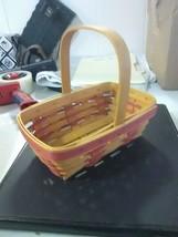 Longaberger Fixed Handle Sweetheart  Sweet Treat Basket - 1998 - $8.23
