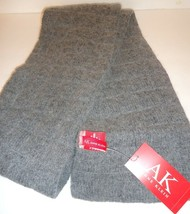 Ladies Women's Long Anne Klein Quilted Grey Scarf, O/S - $43.07