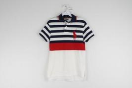 Polo Ralph Lauren Mens XS Cutom Fit Big Pony Logo Striped Golf Collared ... - $39.55