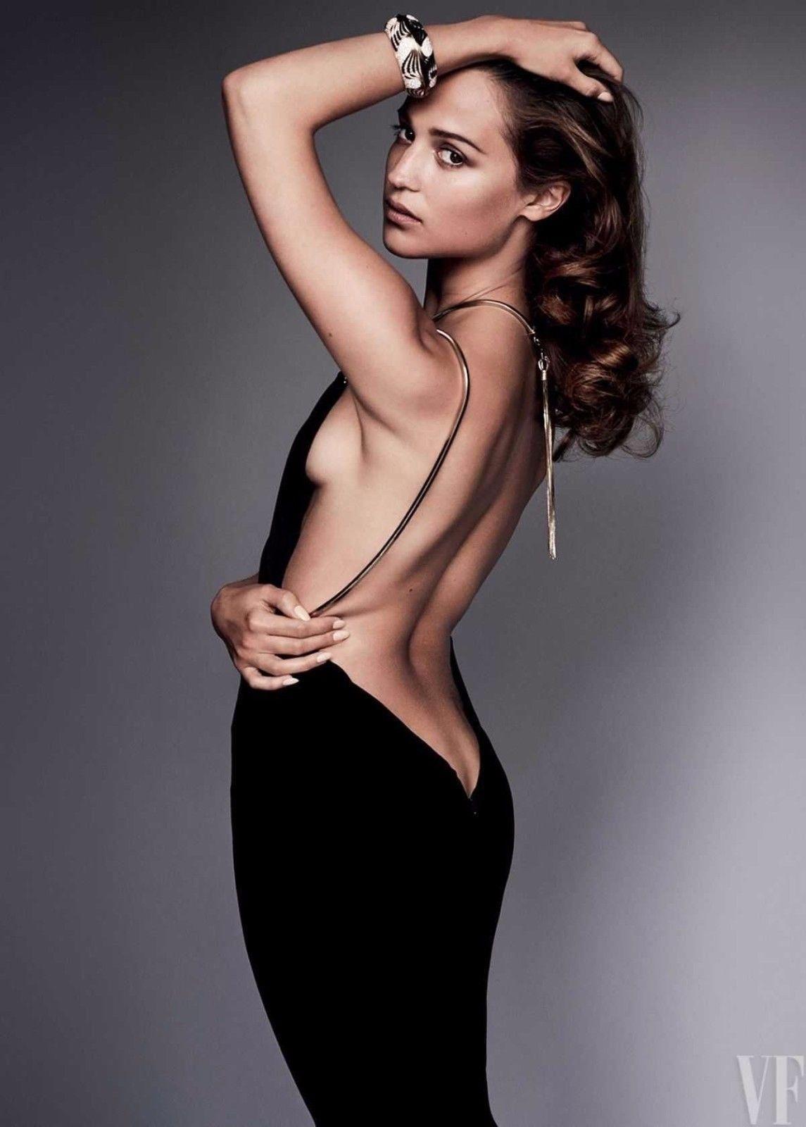 Alicia vikander poster unzipping dress