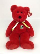 Ty Beanie Buddies Osito Red Mexico Flag Teddy Bear Plush Stuffed Toy w Tags 1999 - $10.84