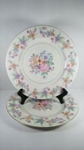 2 Theodore Haviland Springtime Floral Dinner Plates New York USA VINTAGE - $24.24