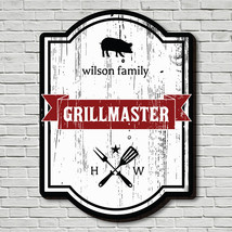 Grillmaster Crest Personalized Wood Sign - $49.95 - $79.95
