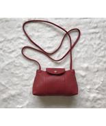 France Made Longchamp Le Pliage Cuir Crossbody Bag Wine Red - £152.33 GBP b76b5c374f938
